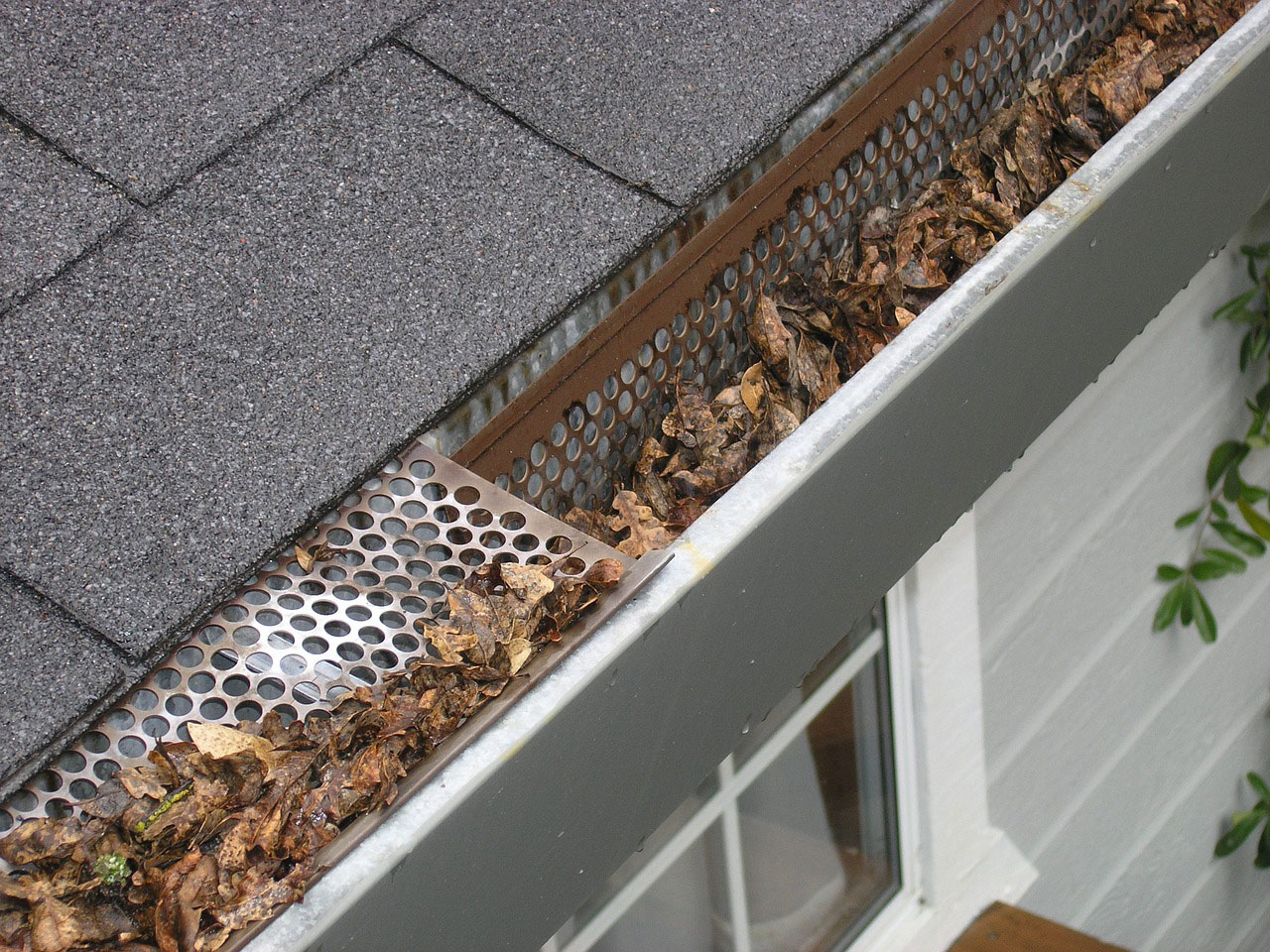 clogged gutters common roof problem